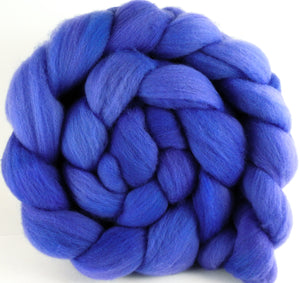 Hand dyed top for spinning -Morning Glory - Organic Polwarth
