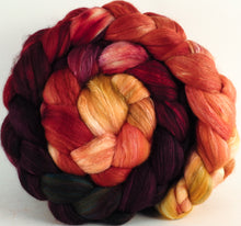 Batt in a Braid #5 - Cherry Medley -(5.2 oz.) Merino/ Camel/ silk/ faux cashmere/ firestar (25/25/25/12/12) - Inglenook Fibers