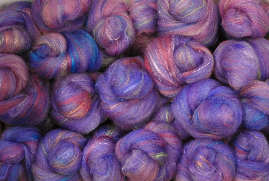 Sock Batts - Jacaranda - (4 oz.) - Inglenook Fibers