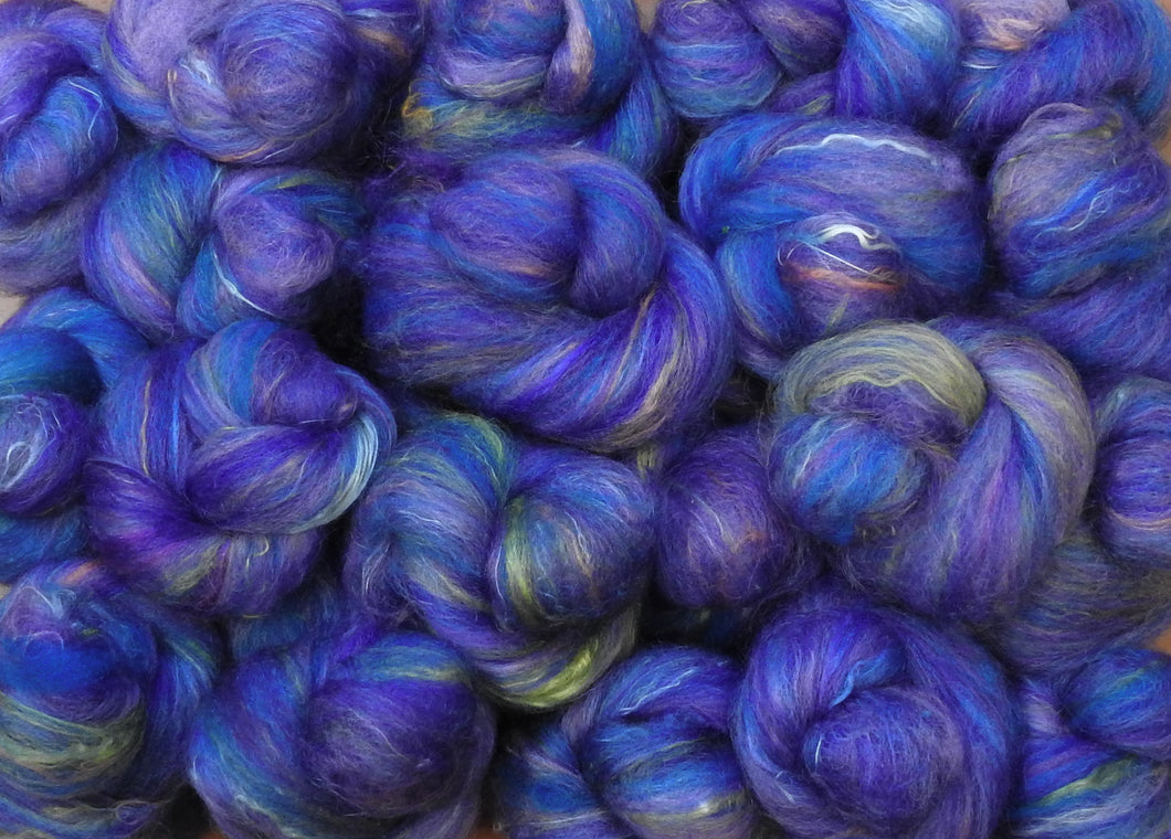 Sock Batts - Morning Glory - (4 oz.) - Inglenook Fibers