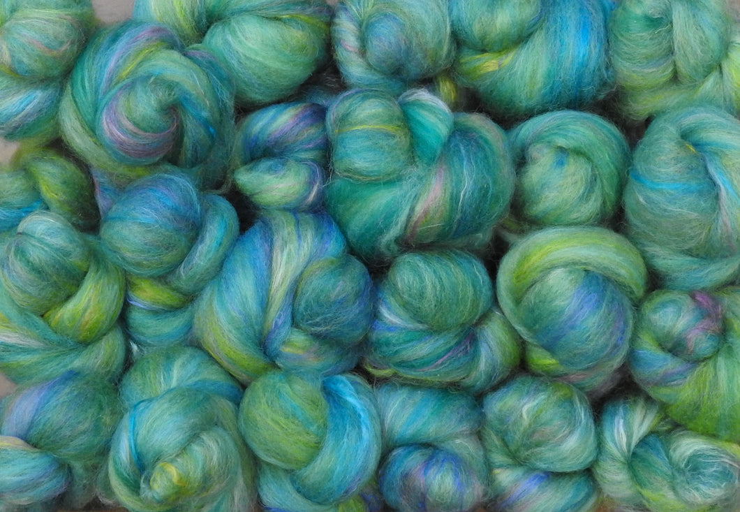 Sock Batts - Mermaid - (4 oz.) - Inglenook Fibers