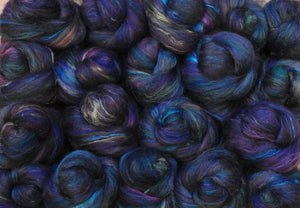 Sock Batts - Nightshade - (4 oz.) - Inglenook Fibers