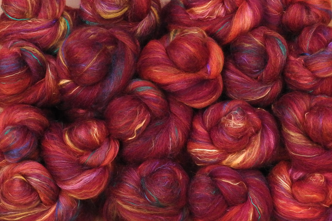 Sock Batts - Habanero - (4 oz.) - Inglenook Fibers