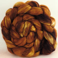 Strong Honey - Wensleydale/ Mulberry silk roving (65/35)