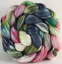 Batt in a Braid #45 - Lotus - Corriedale/Mulberry Silk/Rose Fiber (60/20/20) - Inglenook Fibers