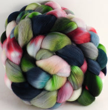 Hand dyed top for spinning - Lotus - (5.1 oz.) Organic Polwarth - Inglenook Fibers