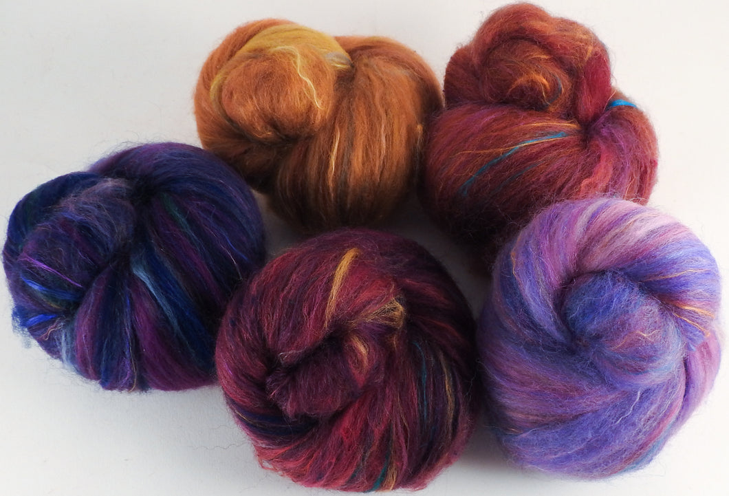 Sock Batts - Tapestry - (3.9 oz.) - Inglenook Fibers