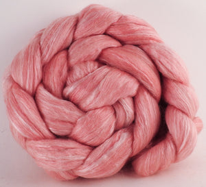 Batt in a Braid #45 - Cochineal (4.9 oz.) - Corriedale/Mulberry Silk/Rose Fiber (60/20/20) - Inglenook Fibers