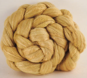 Batt in a Braid #45 - Osage Orange (5 oz.) - Corriedale/Mulberry Silk/Rose Fiber (60/20/20) - Inglenook Fibers