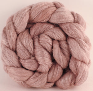 Batt in a Braid #45 - Lac/Madder (4.9 oz.) - Corriedale/Mulberry Silk/Rose Fiber (60/20/20) - Inglenook Fibers