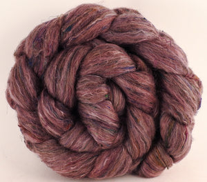 Batt in a Braid #46 - Brazilwood (5 oz) - Rambouillet/ Corriedale / Ramie/Sari Silk (25/25/25/25) - Inglenook Fibers