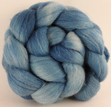 Batt in a Braid #44 - Light Indigo - Southdown/Tussah Silk/Kid Mohair (65/25/10) - Inglenook Fibers