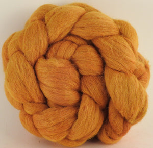 Batt in a Braid #44 - Onion Skins - (4.8 oz) Southdown/Tussah Silk/Kid Mohair (65/25/10) - Inglenook Fibers