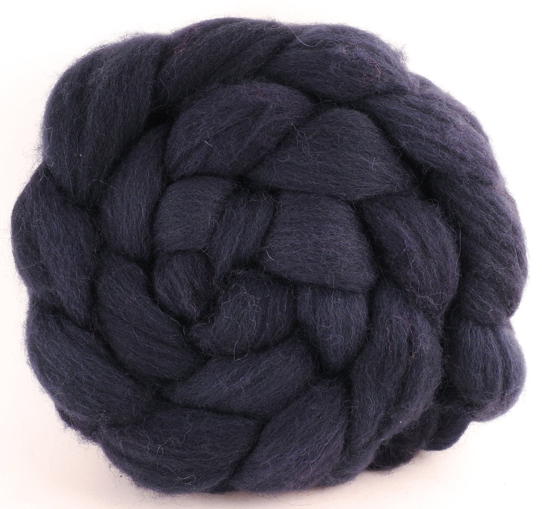 Batt in a Braid #44 - Logwood - (4.7 oz) Southdown/Tussah Silk/Kid Mohair (65/25/10) - Inglenook Fibers