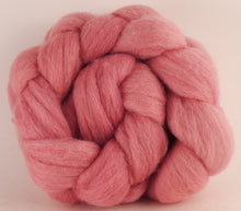 Batt in a Braid #44 - Cochineal -  Southdown/Tussah Silk/Kid Mohair (65/25/10) - Inglenook Fibers