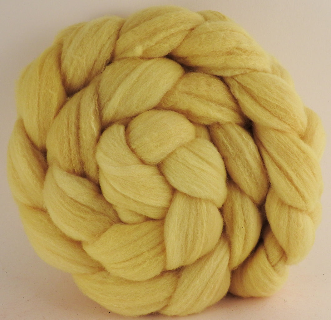 Hand dyed top for spinning -Weld - Targhee/silk/ bamboo ( 80/10/10)- 4.8 oz.