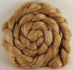 Baby camel/ tussah silk top (50/50) - Osage Orange - 3.3 oz. - Inglenook Fibers