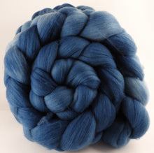 Hand dyed top for spinning - Indigo - (5.8 oz.) Organic Polwarth