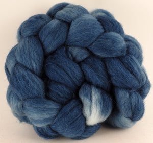 Batt in a Braid #44 - Indigo - Southdown/Tussah Silk/Kid Mohair (65/25/10) - Inglenook Fibers