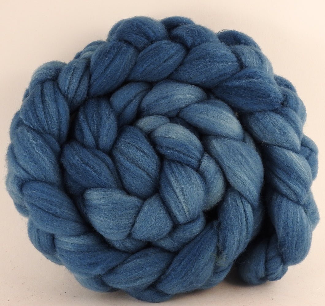 Hand dyed top for spinning - Indigo - Targhee/silk/ bamboo ( 80/10/10)