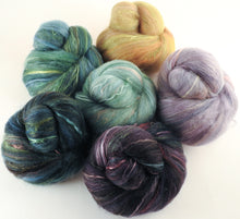Natural Dyed Fiber Batts -Starling - 80% wool, 20% silk - 4.3 oz. - Inglenook Fibers