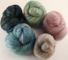 Natural Dyed Fiber Batts - Bird's Eggs- 80% wool, 20% silk - Inglenook Fibers