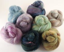 Natural Dyed Fiber Batts -Elderberry Tree - 80% wool, 20% silk - 5.8 oz. - Inglenook Fibers