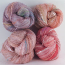 Natural Dyed Fiber Batts -Honeysuckle - 80% wool, 20% silk - 4.2 oz. - Inglenook Fibers