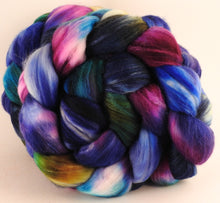 Batt in a Braid #35  - Electric Slide (5.5 oz.) - Sw Merino (18.5 mic) /Merino (18.5 mic) / Tussah Silk (40/40/20)
