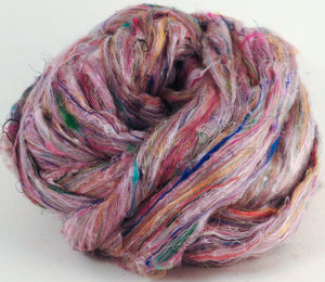 100% Sari Silk Top- Confetti - 1.5 oz. - Inglenook Fibers