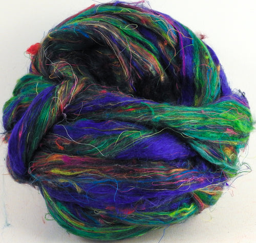 100% Sari Silk Top- Aquarium - 1.5 oz. - Inglenook Fibers