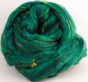 100% Sari Silk Top- Rainforest - 1.5 oz. - Inglenook Fibers