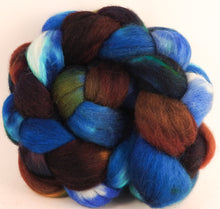 Batt in a Braid #44- Labradorite (5.4 oz) - Southdown/Tussah Silk/Kid Mohair (65/25/10) - Inglenook Fibers