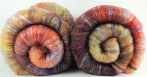 Sea Star - Roly-Poly Batts- 30% Kid Mohair Fleece, Superfine merino, rambouillet, silk, bamboo, silk noil, angelina