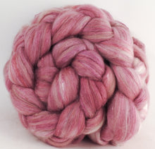 Batt in a Braid #5 - Rosé -(5.3 oz.) Merino/ Camel/ silk/ faux cashmere/ firestar (25/25/25/12/12)