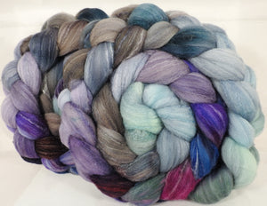 Hand dyed top for spinning -Earl Grey- (5.1 oz.) Targhee/silk/ bamboo ( 80/10/10) - Inglenook Fibers