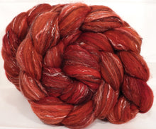 Braid #2 - Fire -(5.1 oz.)Polwarth/ Manx / Black tussah silk/ tencel (40/20/20/20) - Inglenook Fibers