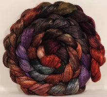 Hand dyed yak/ mulberry silk top -Gnomes - (4.1 oz.) yak /silk ( 50/50)
