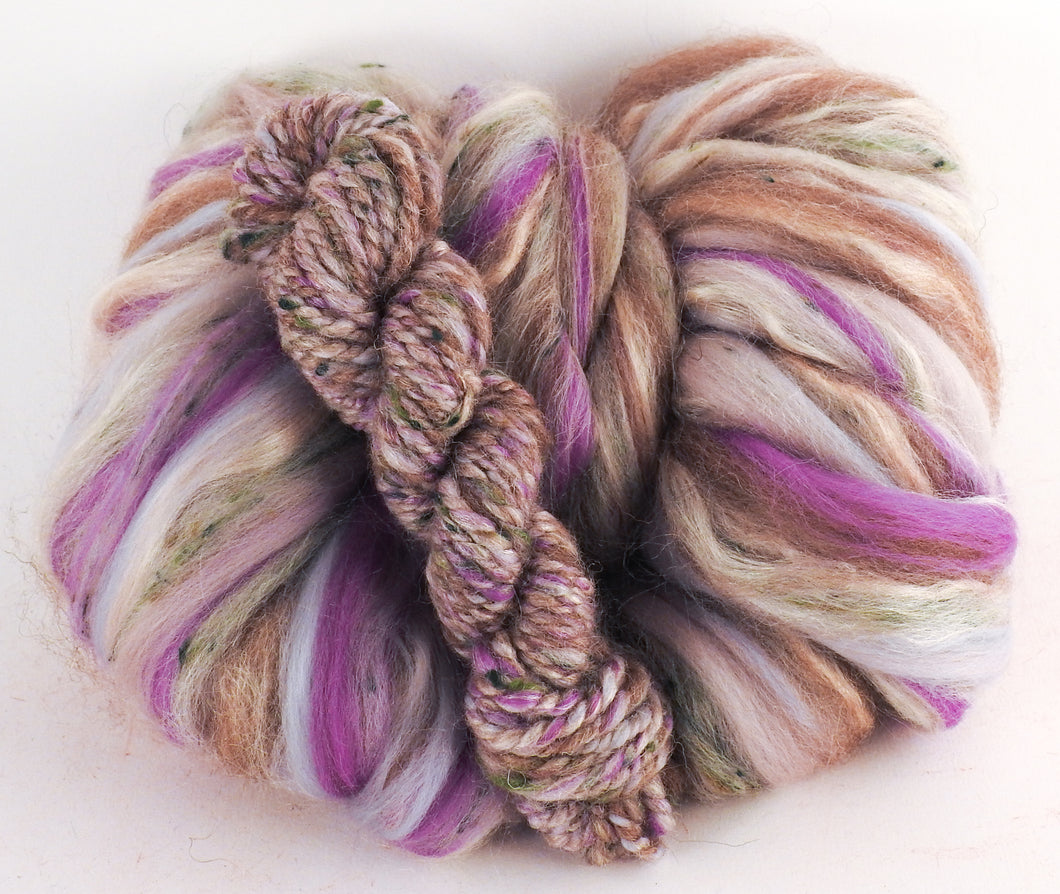Rhyolite - Superfine Merino/ Manx Loaghtan / Tweed Blend/ Silk  ( 40/25/25/10 ) - Inglenook Fibers