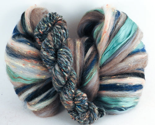 Bedrock - Superfine Merino/ Manx Loaghtan / Tweed Blend/ Silk  ( 40/25/25/10 ) - Inglenook Fibers