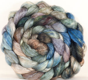 Hand dyed baby camel/ tussah silk top -Stormy Seas - (4.2 oz.) baby camel /silk ( 50/50)