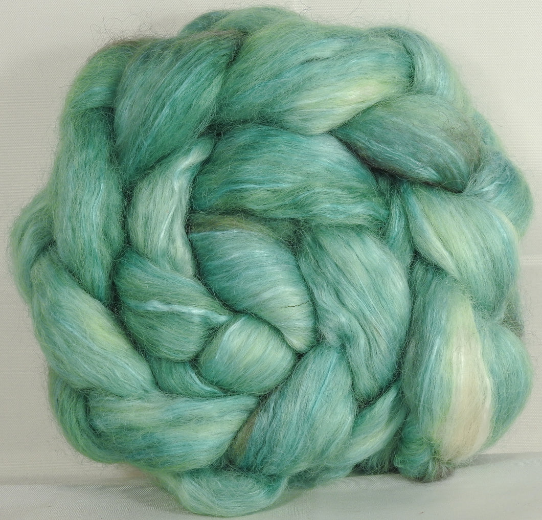 Wensleydale/ mulberry silk roving ( 65/35) -Celadon - (5.3 oz.)