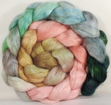 Wensleydale/ mulberry silk roving (65/35) - Shabby Chic - 5.2 oz. - Inglenook Fibers