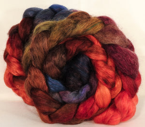 Wensleydale/ mulberry silk roving ( 65/35) -Gnomes - (5.3 oz.)
