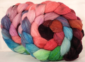 British Southdown/ tussah top (65/ 35) - Outback in Bloom - 5.2 oz.