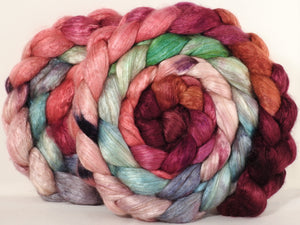 Baby camel/ tussah silk top - Outback in Bloom - baby camel /silk ( 50/50) - 4.1 oz - Inglenook Fibers