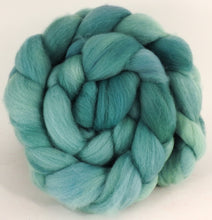 Hand dyed top for spinning - Spearmint - Organic Polwarth - Inglenook Fibers