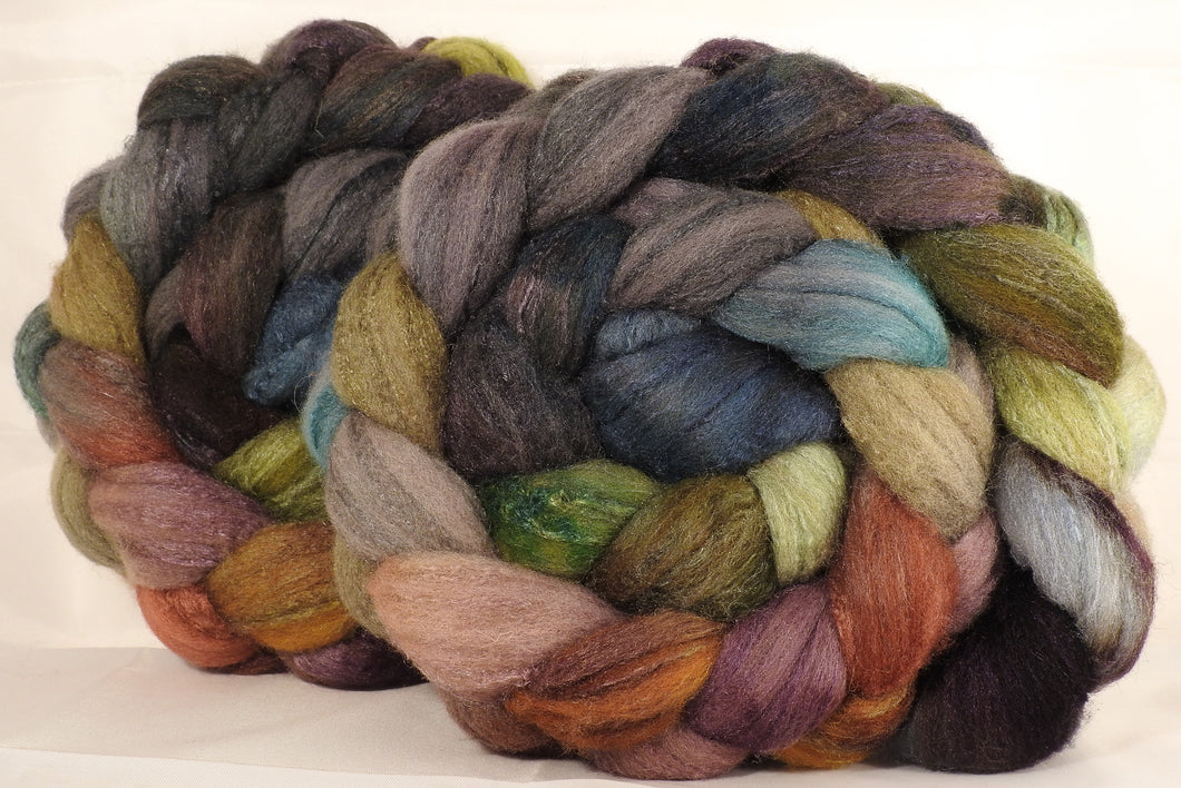 British Southdown/ tussah top (65/ 35) - Pebble Mosaic - 5.1 oz. - Inglenook Fibers