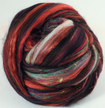 Red Currant- Zwartables/ SuperfineMerino/ ALPACA/ Tussah and Mulberry Silks/Sari silk/Tweed blend (25/25/15/15/10/10)