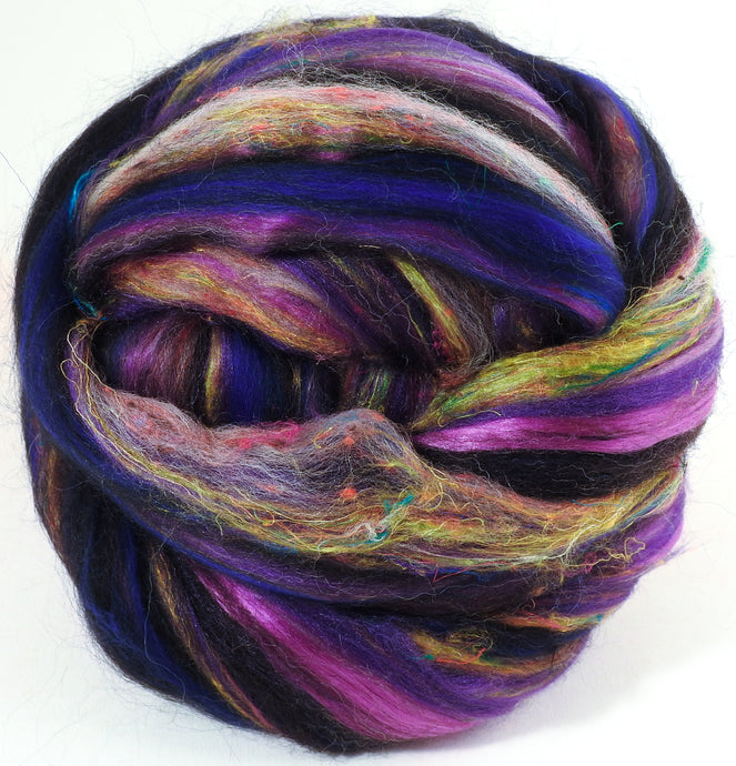 Saskatoon Berry - Zwartables/ SuperfineMerino/ ALPACA/ Tussah and Mulberry Silks/Sari silk/Tweed blend (25/25/15/15/10/10)